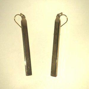 Gold Bar Dangle Earrings